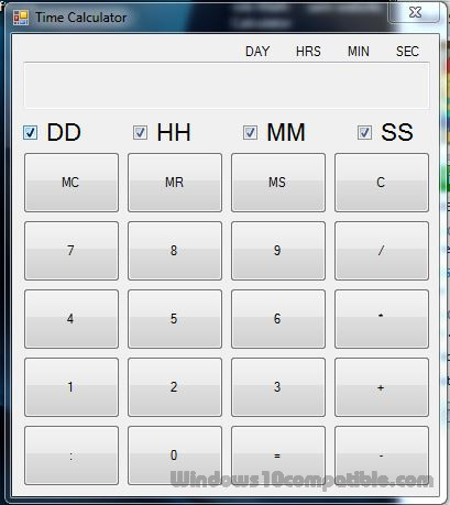 free time calculator 1 0 free download